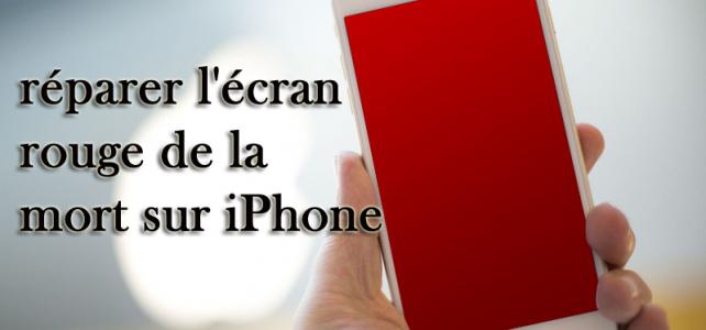 Comment réparer l'écran rouge de la mort sur iPhone 6 sur Windows / Mac?