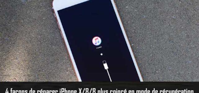 iPhone X/8/8 Plus coincé en mode de récupération? Voici comment le réparer!