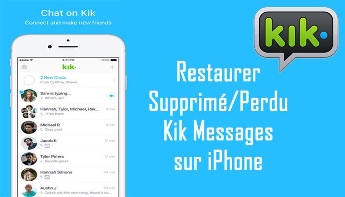 iPhone Kik Messages Récupération