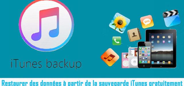 iTunes Données Récupération: Restaurer des données à partir de la sauvegarde iTunes gratuitement