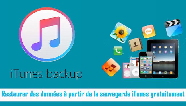 Extraire des données de la sauvegarde iTunes gratuitement