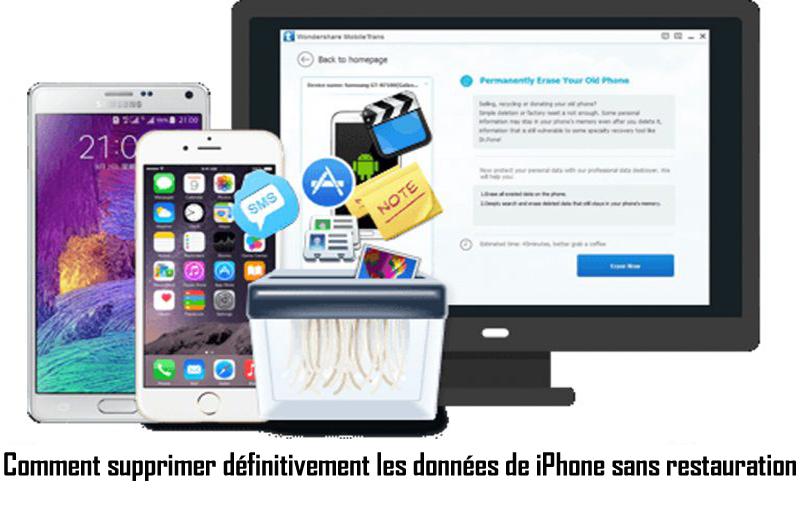 Comment supprimer définitivement les données de iPhone sans restauration